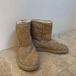 Ugh Australia Classic Short Paisley Prints Boots